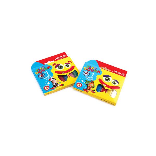 خميربازی 7 رنگ جعبه مقوايی آريا