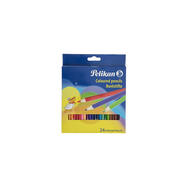 مداد رنگی 24 رنگ پليكان