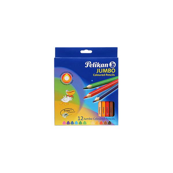 مداد رنگی 12 رنگ مدل جامبو پليكان