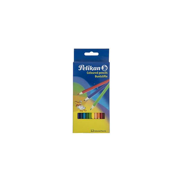 مداد رنگی 12 رنگ پليكان
