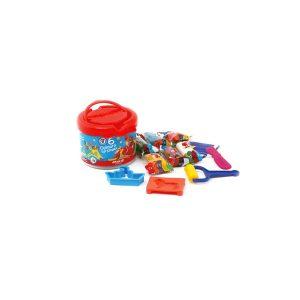 خمیر بازی سطلی 6 رنگ آريا