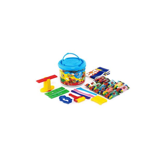 خمیر بازی سطلی 10 رنگ آريا همراه با دی وی دی
