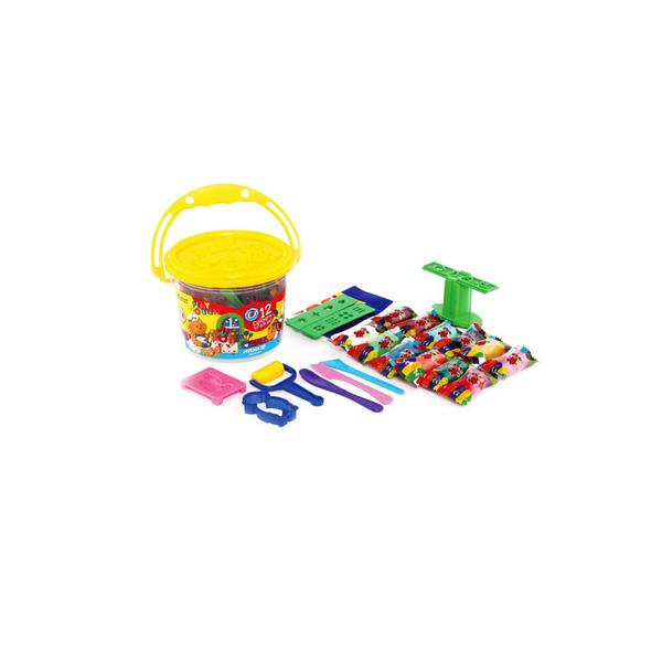 خمیر بازی سطلی 12 رنگ آريا همراه با دی وی دی