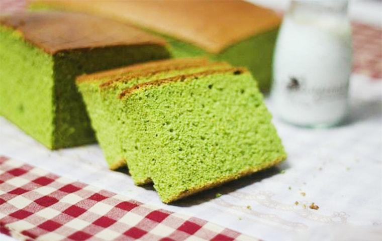 طرز تهیه کیک چای سبز