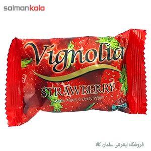 صابون ویگنولیا مدل Strawberry توت فرنگي مقدار 75 گرم